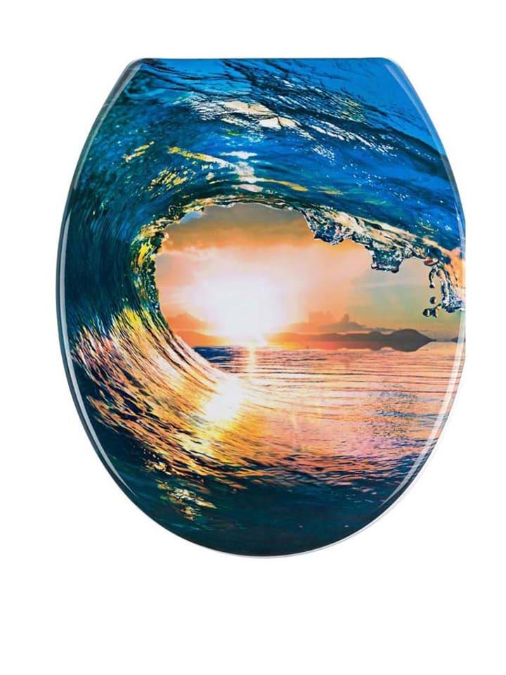 Wenko wc bril bahamas blauw oranje geel - Wc oranje ...