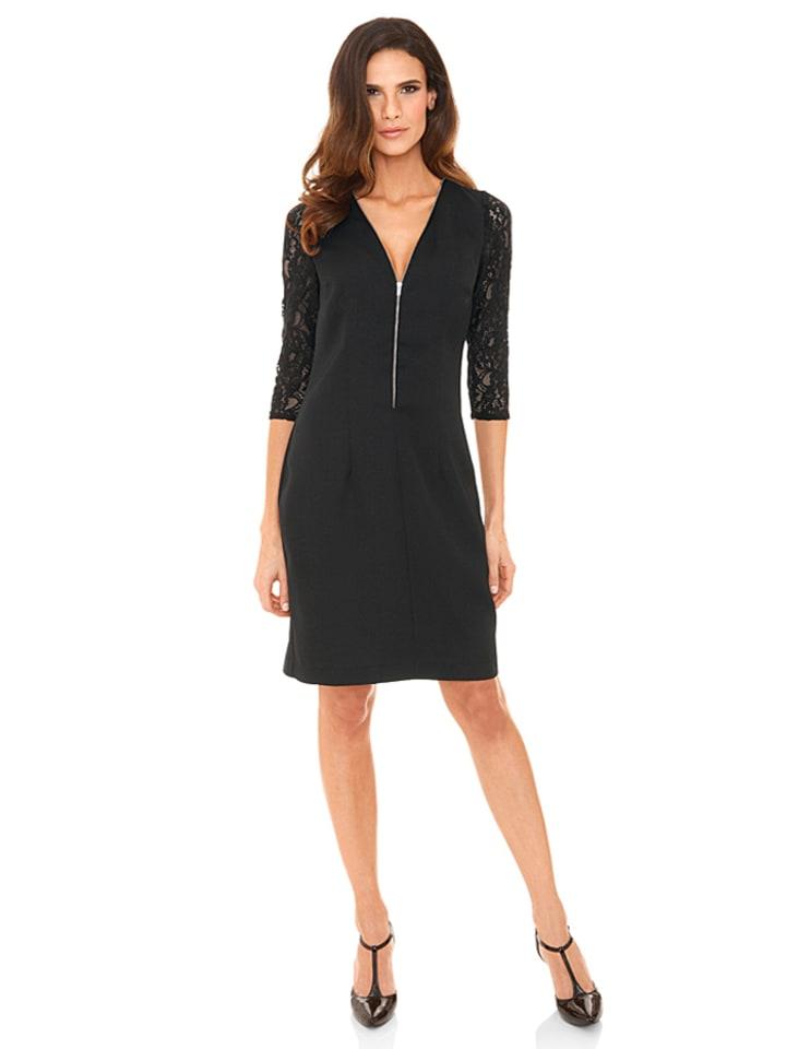 ashley brooke event jurk zwart. Black Bedroom Furniture Sets. Home Design Ideas
